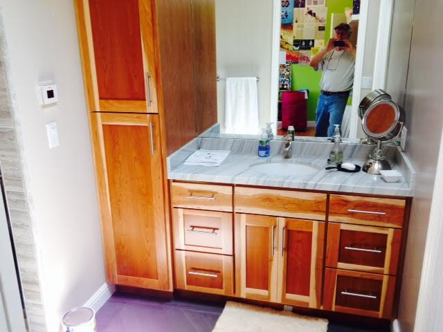Custom Built In Bathroom Cabinets And Vanity