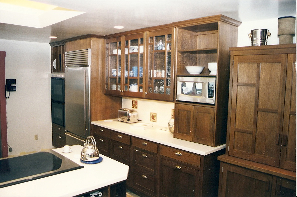 White oak kitchen cabinets - Whitewashed oak cabinets ...